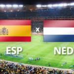 Spanje-Nederland WK 2014